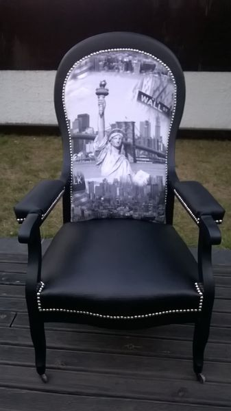 fauteuil voltaire relooke new york dcoration - Voltaire Relooke