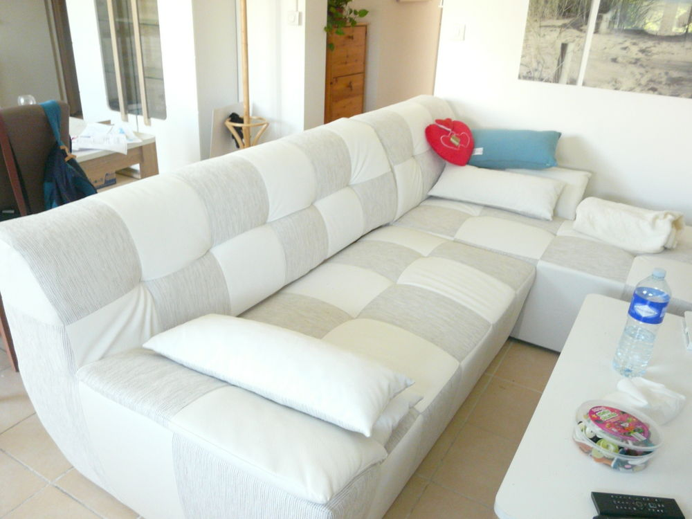 Canapé D Angle Convertible Blanc Gris Ice