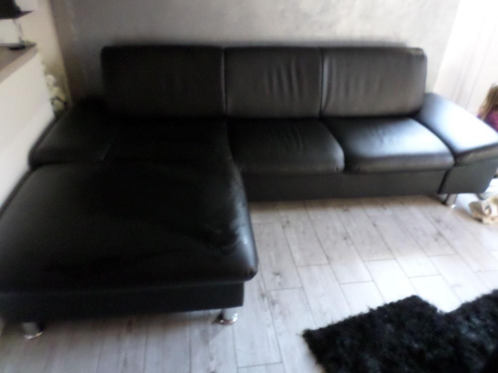 moins cher a6cd4 13c66 canapé d'angle simili cuir noir