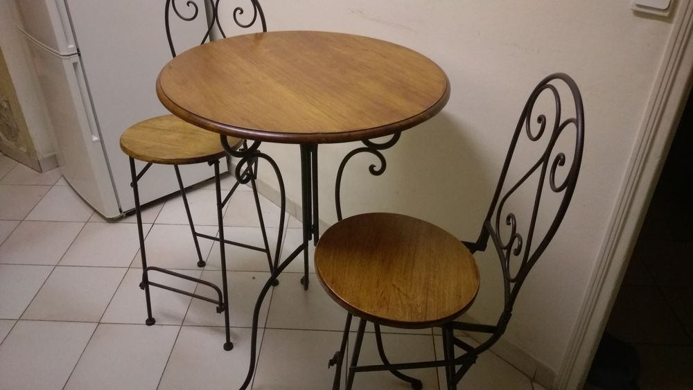 Table Haute Bistrot Et Ses 2 Chaises Meubles