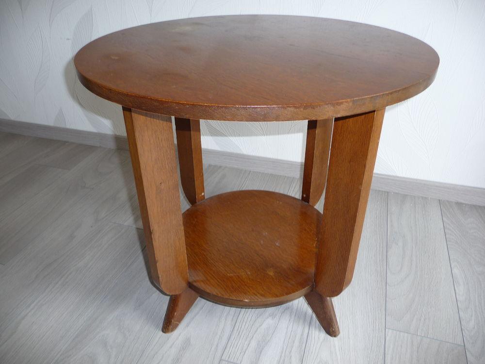 Ronde Basse Table En Ancienne Bois RL34A5j