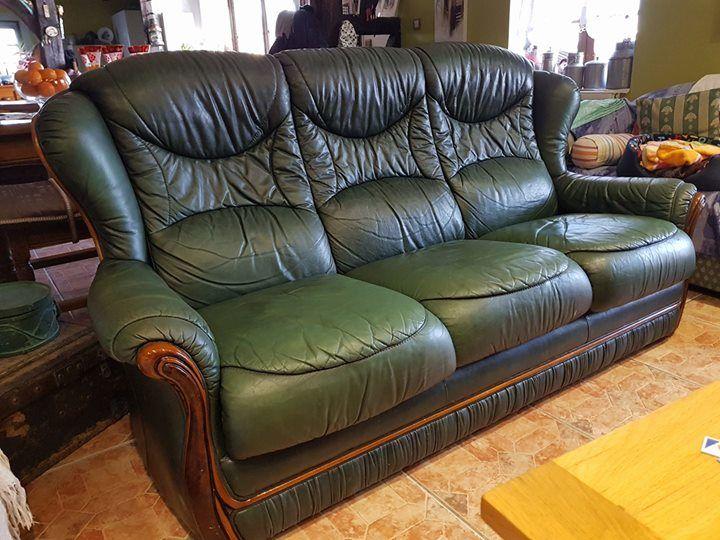 design de qualité 27551 0ea73 Achetez canapé cuir vert occasion, annonce vente à Branges ...
