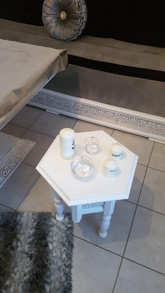salon marocain design blanc & argent