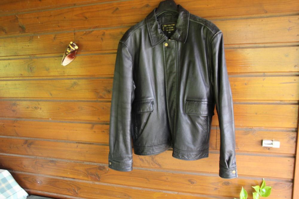 Blouson cuir noir Maroquinerie
