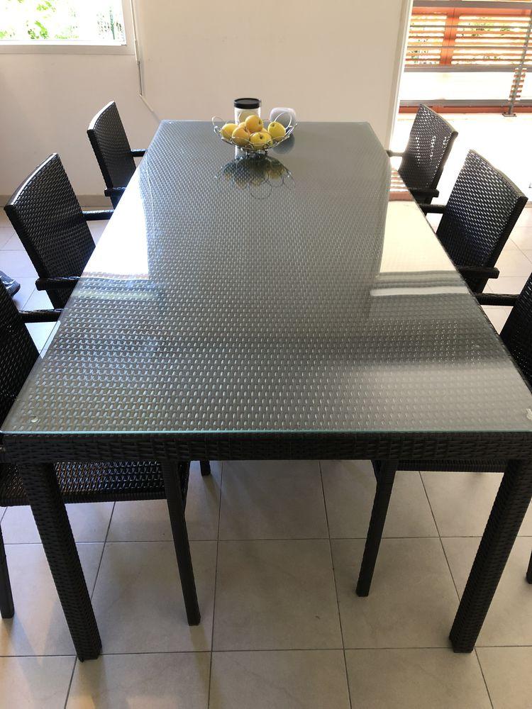 TABLE JARDIN / INTÉRIEUR - Résine Tressée, RIVERSIDE WICKER