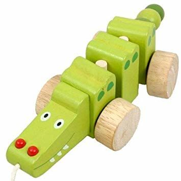 Jouet crocodile bois à tirer 10 Rouen (76)