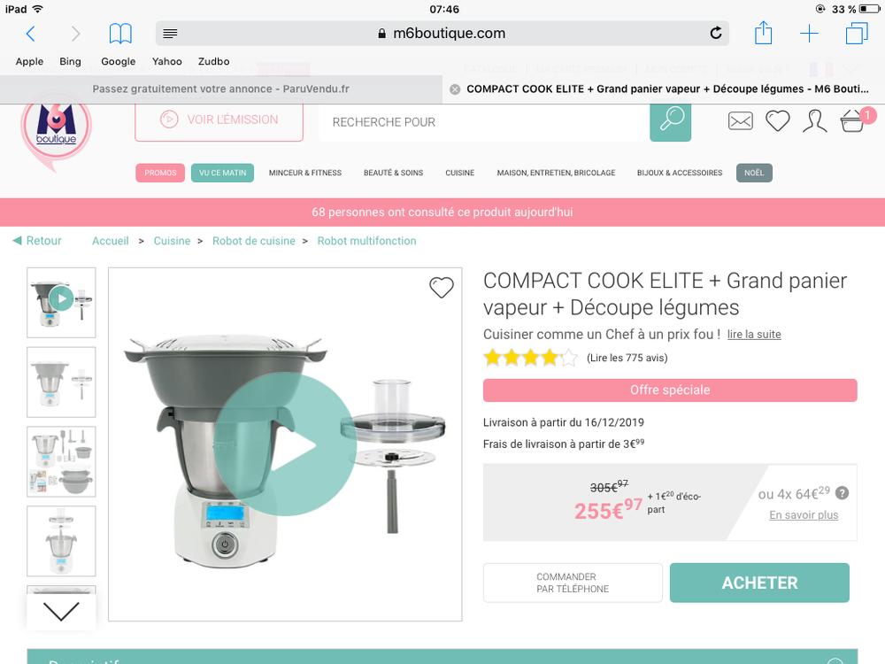 panier vapeur compact Cook  20 Antibes (06)
