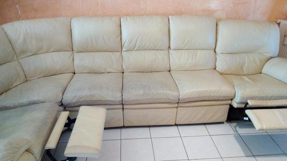 Canapé d'angle en cuir 6/7 places couleur beige, 2 relax 0 Calais (62)