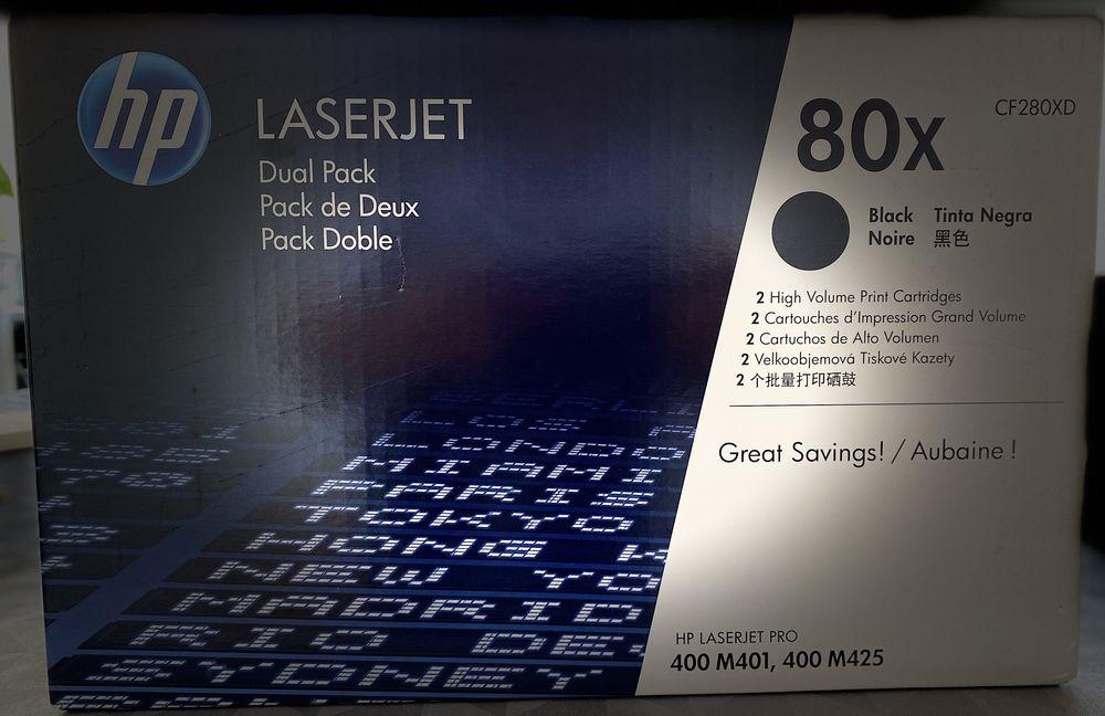 HP 80x Pack de 2 à rendement élevé noir originale LaserJet  299 Vanves (92)