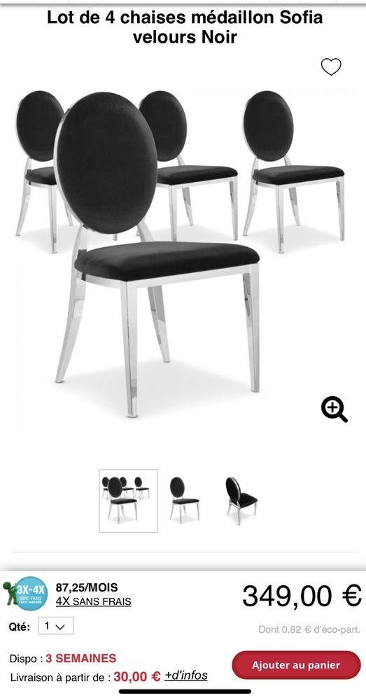 Table et ses 4 chaises médaillon  450 Pau (64)