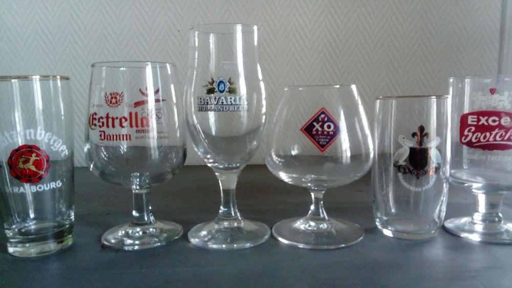 Lot de 6 verres à bière de collection. 0 Marmande (47)