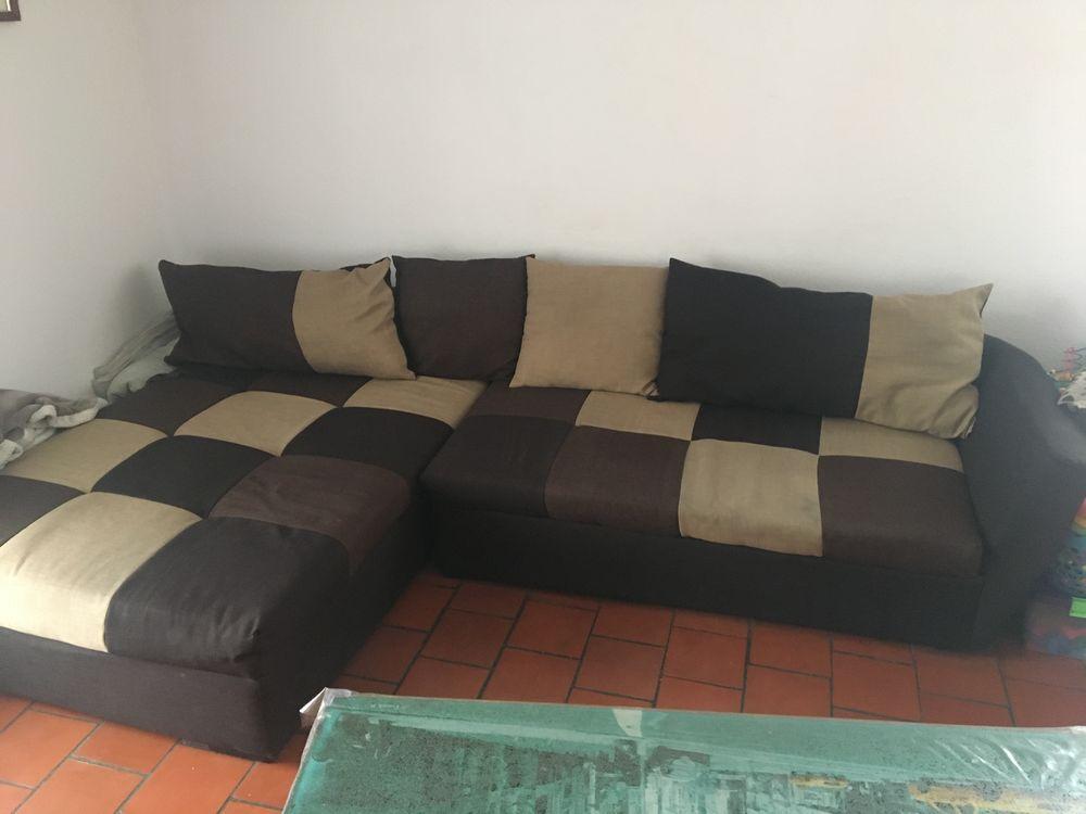 Canapé modulable marron beige très propre bon état général 80 Martigues (13)