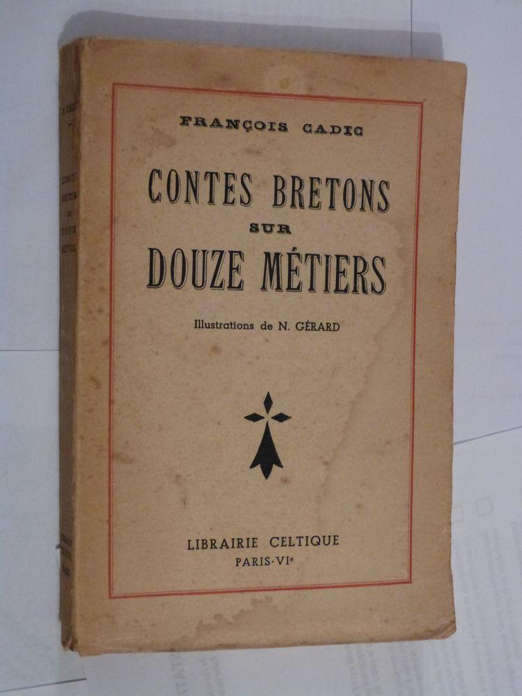 CONTES BRETONS SUR DOUZE METIERS  par  F. CADIC 12 Brest (29)