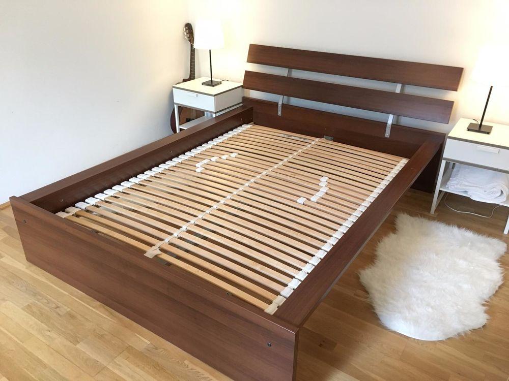 Encadrement de lit IKEA HOPEN + sommiersà lattes 2 personnes 50 Saint-Médard-en-Jalles (33)