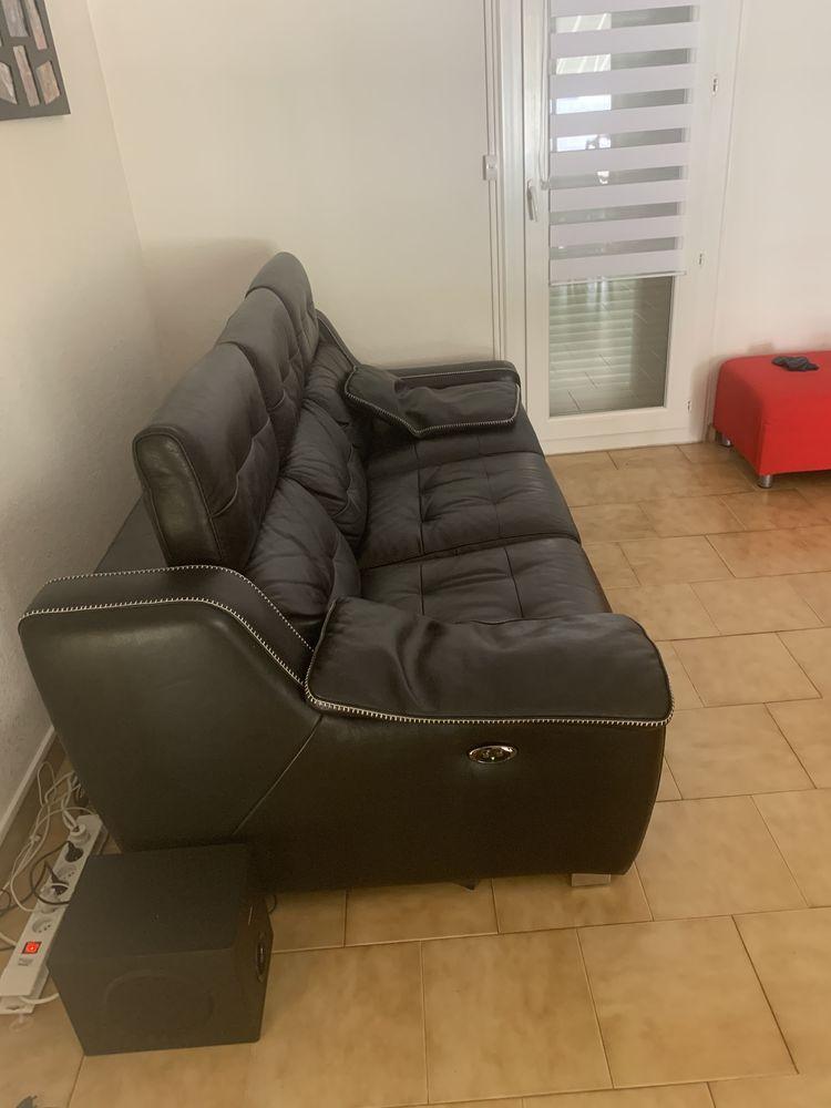 Canapé cuir noir 0 Bouc-Bel-Air (13)