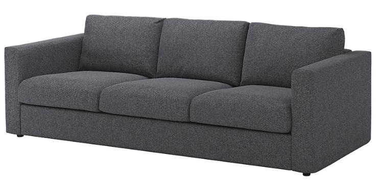 Canapé 3 placs IKEA VIMLE Gunnared gris moyen 400 Lyon 1 (69)