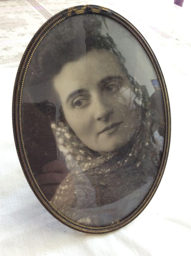 Cadre ovale Danish design, laiton verre, portrait photo 12 Gif-sur-Yvette (91)